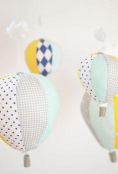 Nautical Baby Mobile Hot Air Balloon by SewManUniverseMaster