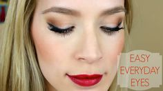 My favorite pretty but simple eye makeup tutorial! I've been wearing this look a lot lately and gotten a ton of tutorial requests so here it is! Like it if y...