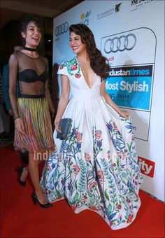 Lisa Haydon and Jacqueline Fernandez at HT Most Stylish Awards 2016. #Bollywood #Fashion #Style #Beauty #Hot #Sexy