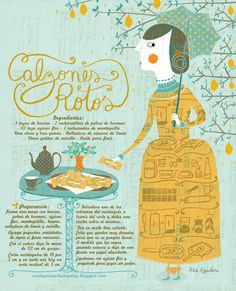 Very cute illustration that shows a Chilean recipe. Pinning this to Nini because I imagine she'd still make Chilean food. Type Illustration, Food Illustrations, Chilean Recipes, Chilean Food, Best Party Food, How To Make Drawing, Food Design, Food Hacks, South America