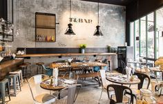 The buzz: This new restaurant occupies two blocks of the busy Marketplace Thonglor and ticks all the relevant boxes to make it a chic hangout, from the stylish collection of partners to the industrial decor. The food focuses on easy, comforting fusion dishes and is backed up by an extensive drink list.