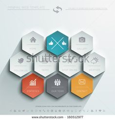 Minimal Web Template - stock vector