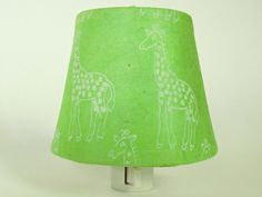 Lime Green Giraffe Night Light with White by TheOrangeChairStudio, $20.00