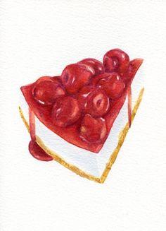 Hey, j'ai trouvé ce super article sur Etsy, chez https://www.etsy.com/fr/listing/181766018/cherry-cheesecake-original-peinture