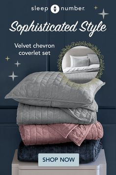 Dream Home Design, Home Interior Design, House Design, Pillow Shams, Bed Pillows, Velvet Bedding Sets, Sophisticated Style, Elegant, Chevron