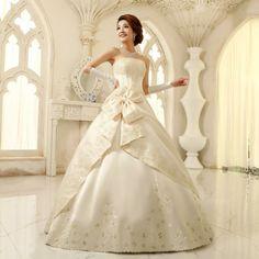 Elegante y formal de la boda vestido de novias las mujeres dulce de flores de encaje precioso de alta