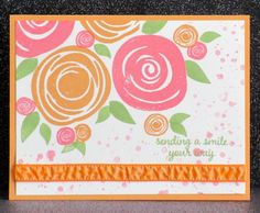 For this version of the new Swirly Bird stamp set, I CASEd [url=https://www.pinterest.com/pin/239676011397932128/] this card [/url]by Kim Badelt.