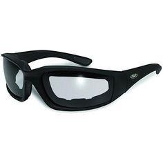 b40fec9a965 Global Vision Kickback Motorcycle Glasses (Black Frame Clear-Smoke Lens) by  Global