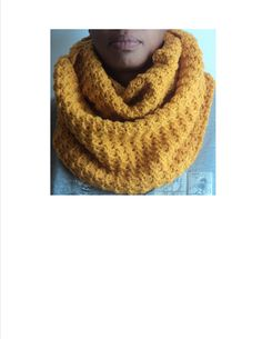 Crochet Infinity Scarf using Red Heart Gold Medium Worsted yarn.  Available for purchase.