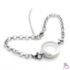 Locket Bracelet, Bangle Bracelets, Bangles, Floating Charms, 316l Stainless Steel, Silver Rounds, Wholesale Fashion, Jewelry Accessories, Fashion Styles