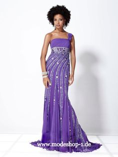 Evening Gown Dress Abendmode 2013 Abendkleid Borden Island Blau oder Lila  www.modeshop-1.de