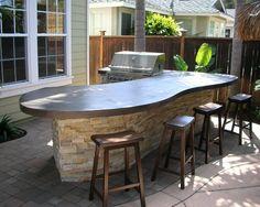New Backyard Bbq Bar Patio Ideas Bar Patio, Backyard Bar, Backyard Kitchen, Backyard Seating, Backyard Landscaping, Outdoor Seating, Summer Kitchen, Outdoor Kitchen Countertops, Outdoor Kitchen Bars