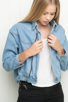Brandy ♥ Melville | Isabelle Denim Jacket - Outerwear - Clothing