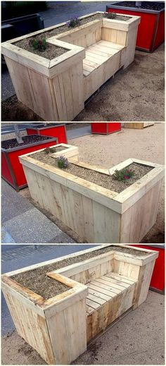 40 very cheap shipping pallets furniture ideas wooden planters Pallet Furniture . Wood Pallet Planters, Diy Planter Box, Wooden Pallet Projects, Patio Planters, Diy Pallet Furniture, Wooden Pallets, Wooden Diy, Garden Furniture, Pallet Ideas
