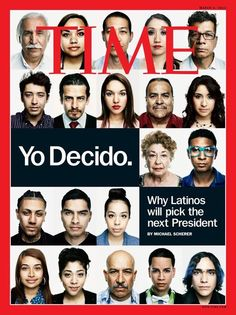 Take a look at this Time Magazine cover. It has faces of Latino voters, illustrating the importance of the Latino vote in the upcoming presidential election. The only problem? One of them is 100% NOT Latino. Oops.