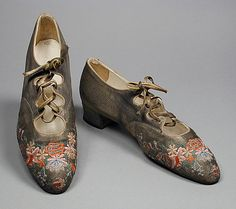 Hook, Knowles & Company, Ltd.   Pair of Woman's Shoes, 1914-1917
