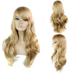 17.13$  Watch here - http://di7mx.justgood.pw/go.php?t=128389901 - Side Bang Stylish Blonde Brown Mixed Long Big Wavy Noble Synthetic Women's Capless Wig 17.13$