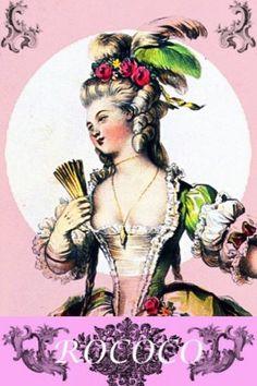 Rococo fashion history. 18th century costumes.