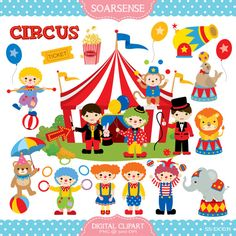 Circus Clipart by soarsense on Etsy, $5.00