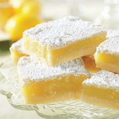 Probably my all-time favorite lemon dessert....the classic lemon bar.  The Barefoot Contessa knows lemon bars!