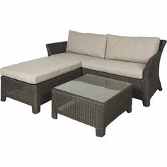 Nouveau Como 3 Piece Lounge Setting - Mitre 10 Metal Carport Kits, Outdoor Wicker Furniture, Outdoor Decor, Painted Beds, Wooden Gazebo, Pergola Carport, Home Goods Store, Throw Cushions, Seat Cushions
