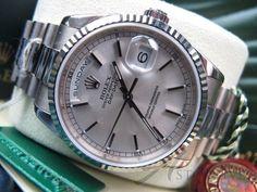 Rolex President Day Date 18k White Gold Ref 118239 Unworn NOS Box Y Serial