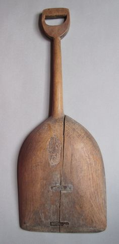 Primitive wooden shovel, c.1870