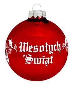 polish christmas greeting ornament wesolych swiat red the literal translation of wesolych swiat is seasons greetings or happy holidays