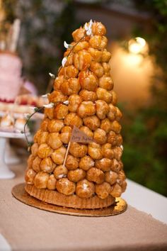Croquembouche (sp?) or Donut holes ? Yummy either way!!