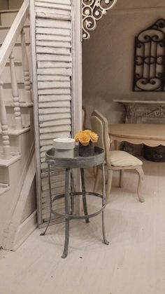 Dollhouse table made by me from cardstock