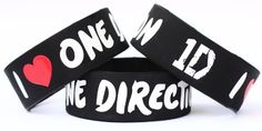 One Direction Wristbands.- I want these soo bad, I would wear them everyday, just for them.Xx.
