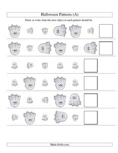 math worksheet : halloween math worksheet  picture patterns  two attributes  : Maths Rotation Worksheets