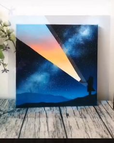 Cute Canvas Paintings, Canvas Painting Tutorials, Diy Canvas Art, Easy Paintings, Art Drawings Beautiful, Cool Art Drawings, Art Sketches, Galaxy Painting Acrylic, Frida Art