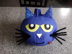 Andrew's Pete the Cat pumpkin :-)