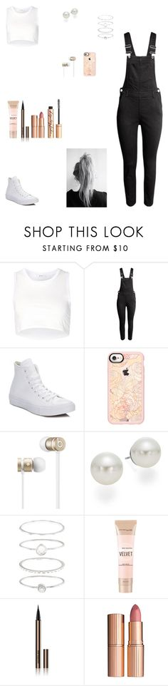 """Untitled #528"" by kittykat125 ❤ liked on Polyvore featuring Julien David, H&M, Converse, Casetify, Beats by Dr. Dre, AK Anne Klein, Accessorize, Maybelline, Hourglass Cosmetics and Charlotte Tilbury"