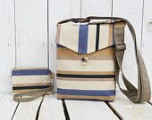 canvas crossbody bag striped small bag and purse mini clutch wallet pouch clutch wristlet messenger bag  $49