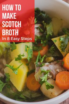 "Scotch Broth is a traditional Scottish dish. It is often referred to as ""Scotland's National Soup"" or ""Pot Au Feu of Scotland"". The nickname ""Pot Au Feu of Scotland"" was given by novelist and feminist Christian Isobel Johnstone. She published Cook and Housewife's Manual in 1856, under the pseudonym Mistress Margaret Dods. #ScotchBroth #Scotland #ScottishDish #Cock #Smalec #dish #recipes #food #Europefood #homestaple #recipe"