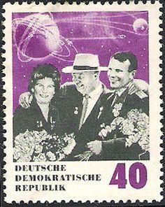 Yuri Gagarin stamp  East Germany, DDR