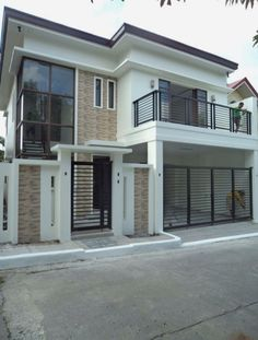 Architectural design is a concept that focuses on components or elements of a structure. An architect is generally the one in charge of the architectural design 2 Storey House Design, Bungalow House Design, House Front Design, Small House Design, Modern House Design, Philippines House Design, Philippine Houses, Beautiful Modern Homes, Balcony Railing Design