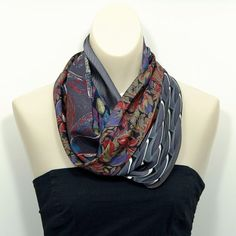 Upcycled/Recycled/Repurposed Necktie Cowl Bonus by LuluBeas