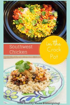 Southwest Chicken in the Crock Pot from thecoersfamily.com Trim Healthy Mama E (energizing) meal #THM