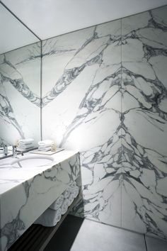 bookmatched marble | BKH New York love it!