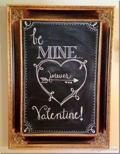 I adore this Valentine Chalk Art