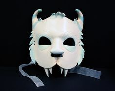Leather Yeti Mask by SurlyBunny on Etsy