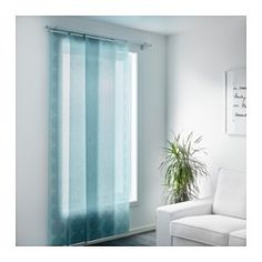 IKEA - LILLERÖD, Panel curtain, A panel curtain is ideal to use in a layered window solution, to divide rooms or to cover open storage solutions.You can cut the panel curtain to the desired length without hemming it.