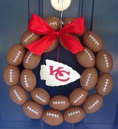 Kansas City Chiefs Football Wreath by NTgoodthings on Etsy
