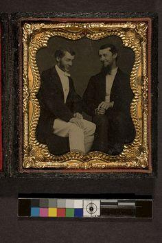 Portrait of two men in conversation 1860