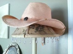 soft as butter pink straw cowgirl hat...