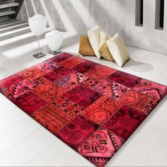 Modern Oriental Rug In Red Color Persian Carpet, Persian Rug, Room Rugs, Rugs In Living Room, Rug Inspiration, Modern Area Rugs, Contemporary Rugs, Rug Making, Rugs Online