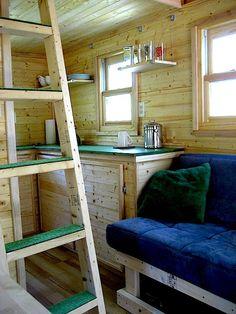 Tiny House Interior - Laura's Tumbleweed Tiny Cabin in the Woods of North Carolina